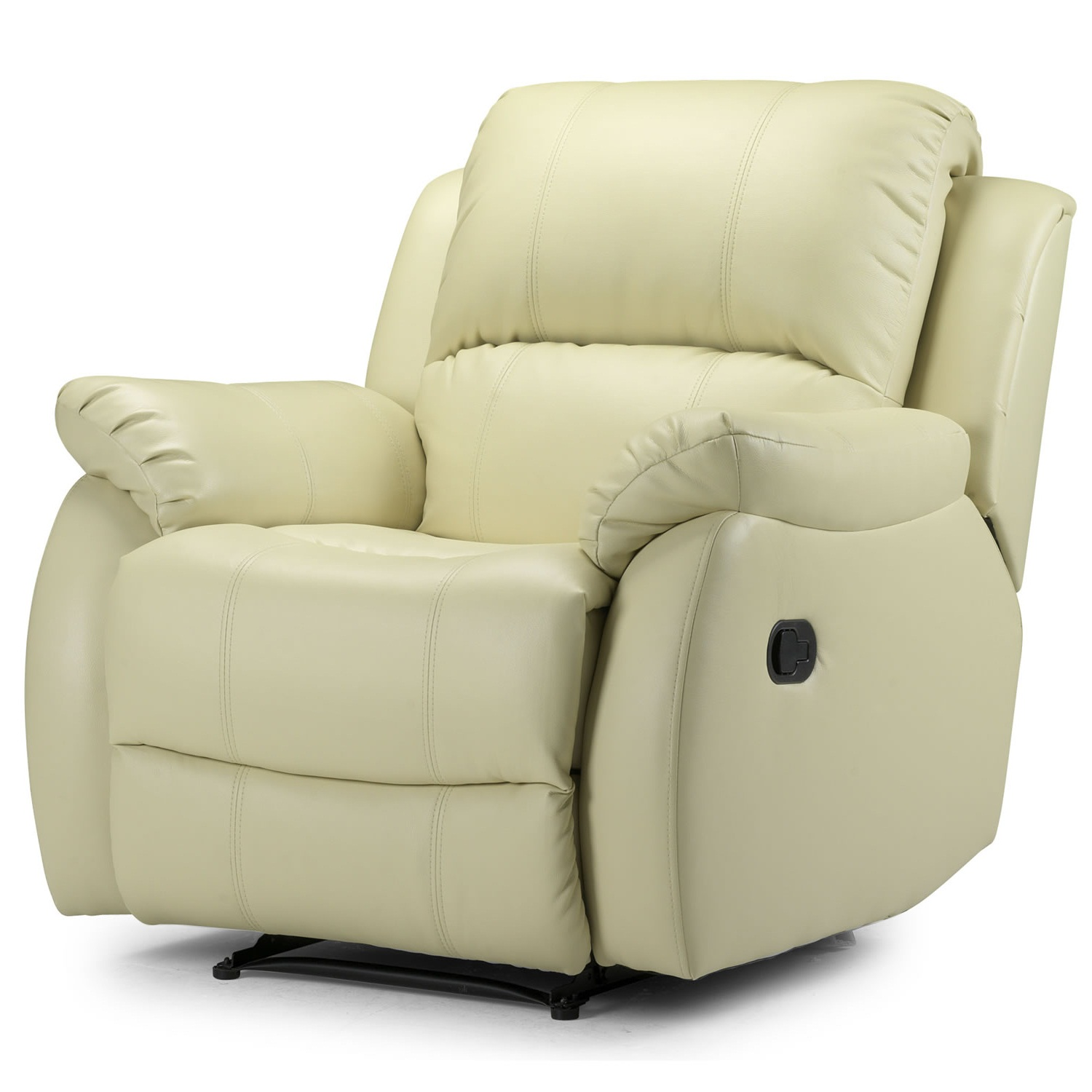 Cream leather recliner armchair photos 10