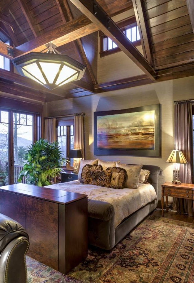 Modern rustic mountain bedroom romantic ideas 11 small for Rustic romantic bedroom