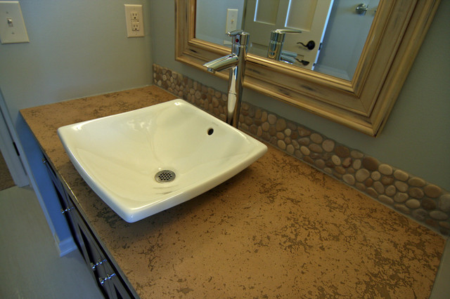 Modern bathroom countertop and sink pictures 02