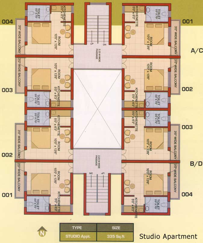 Studio Apartment Floor Plan Decorating Pictures 012