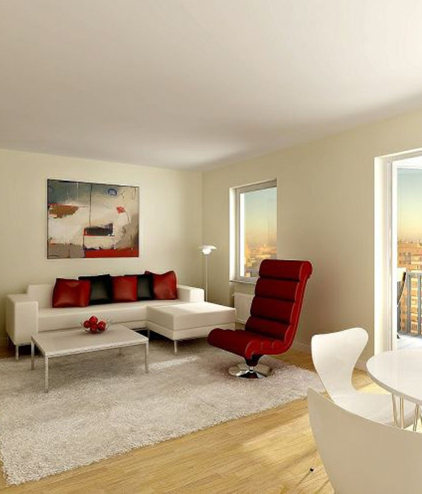 apartment living room furniture modern house