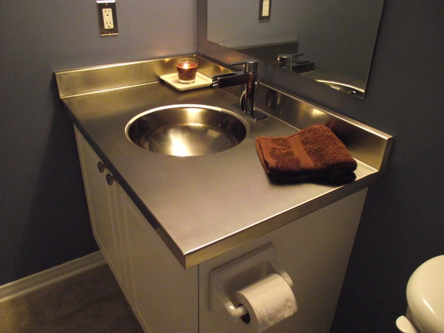 Bathroom Vanity Countertop And Sink Stainless Steel Images 06 Small Room Decorating Ideas