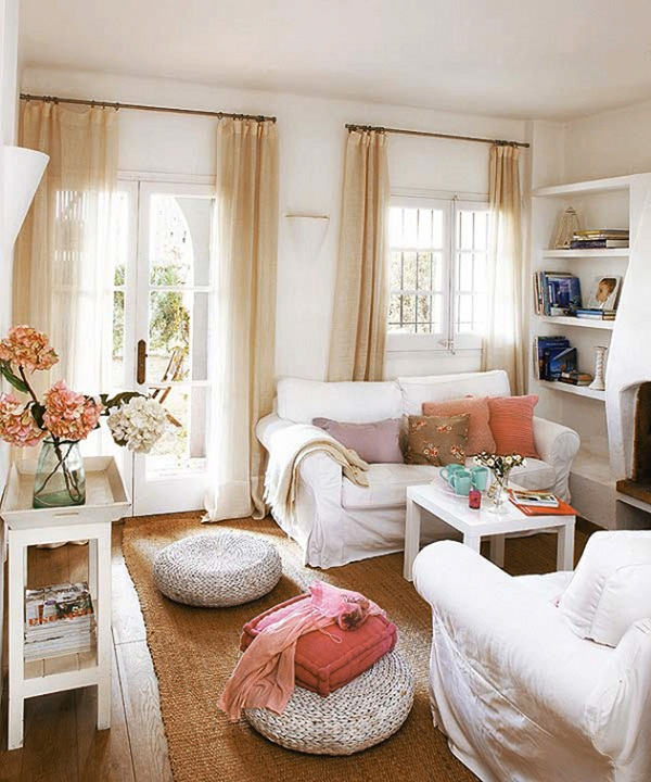 beautiful small space living room arrangement pic 1