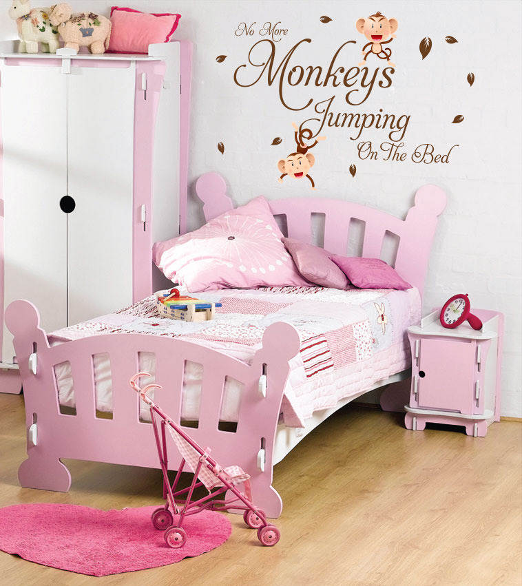 beautiful wall decals quotes with monkey pictures 05