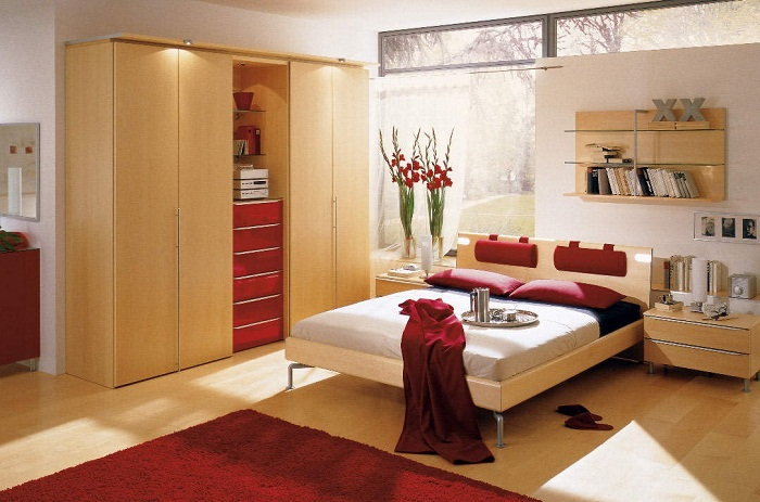 best red color ideas for small bedrooms  pictures 04