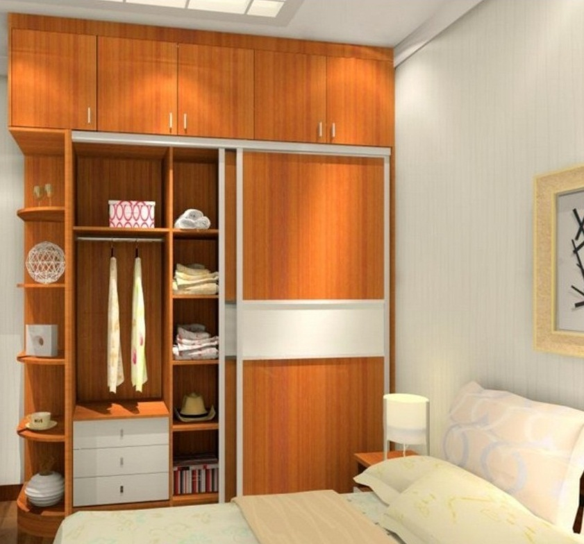 Built in wardrobe designs for small bedroom images 08 for Bedroom designs with tv and wardrobe