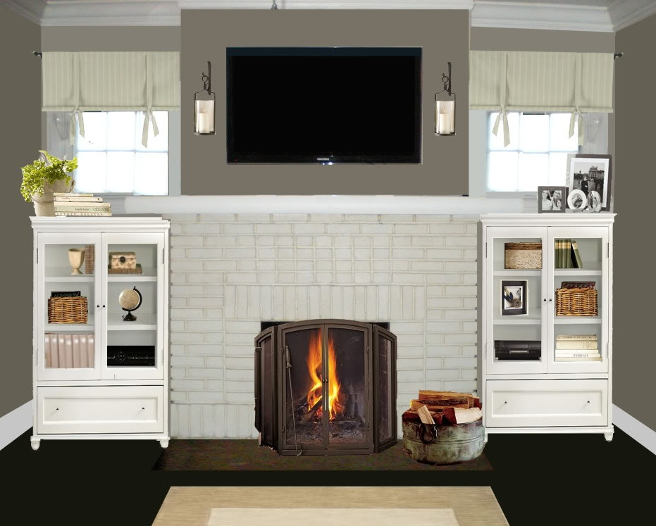 color ideas for painting brick fireplace photos 10