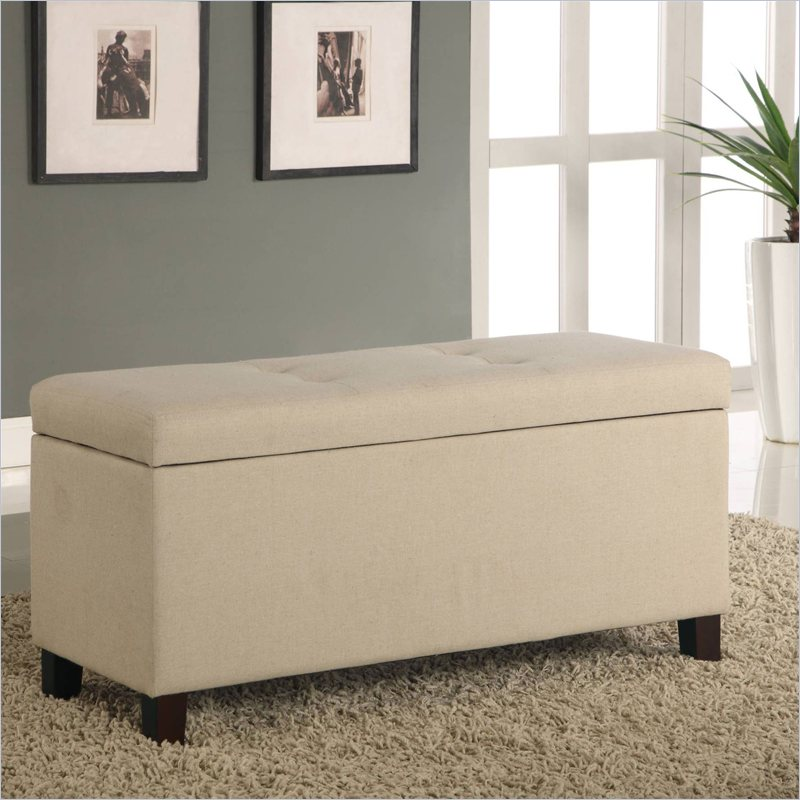Storage bench bedroom furniture small room decorating ideas - Benches for bedrooms ...