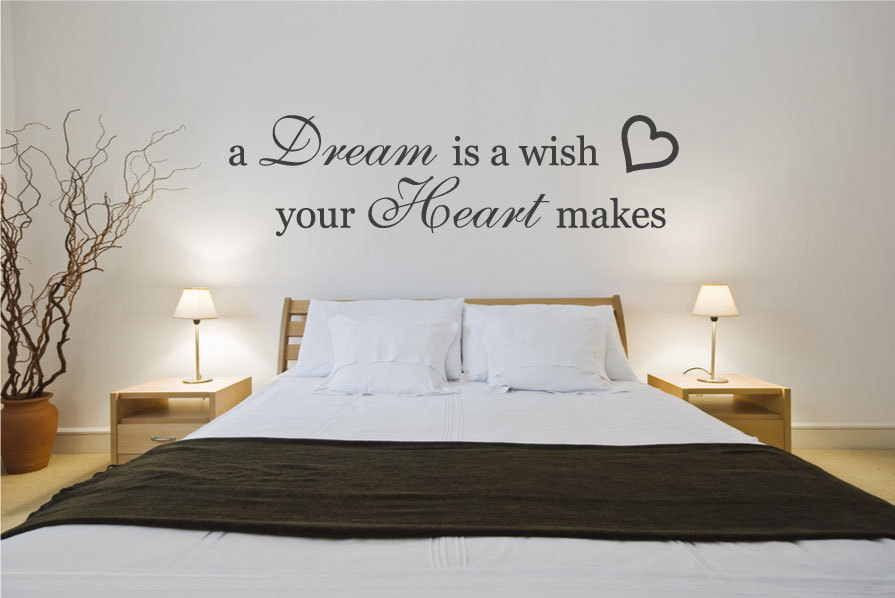 Dream heart wall stiker inspirational quotes wall art pic 08 for Bedroom vinyl quotes