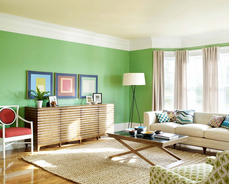 Green interior painting ideas for small spaces soft color - Paint colors for small spaces ...