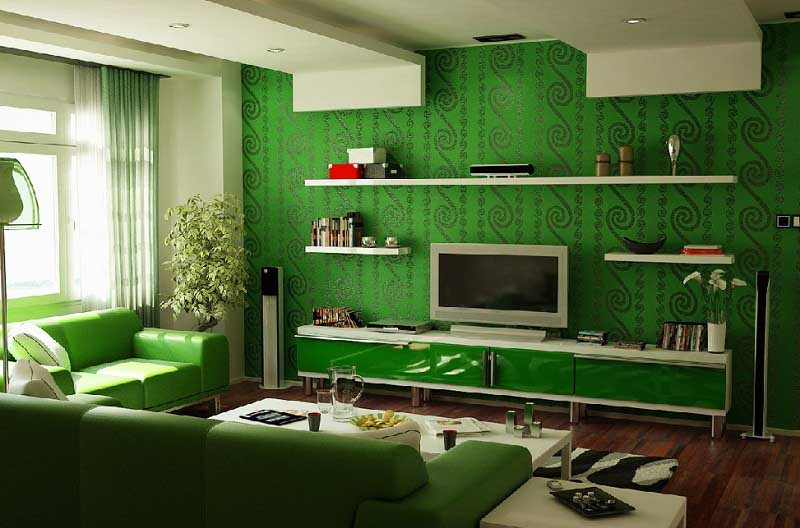 home interior painting ideas colors green living room picture 16