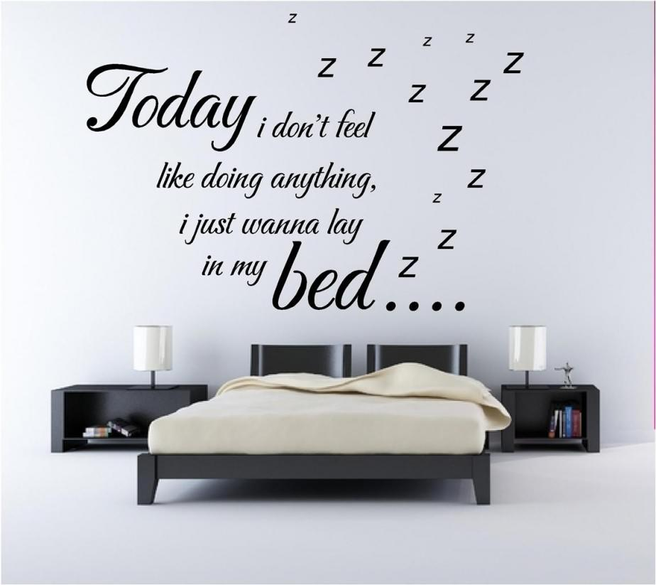 Simple Bedroom Wall Decor : Wall sticker quotes