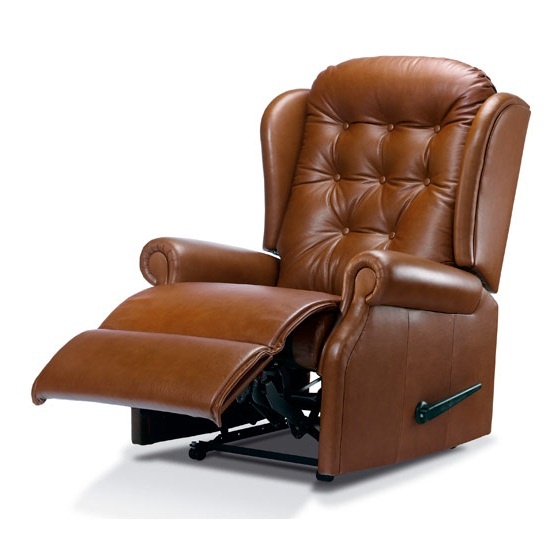 leather recliner chair brown image 09