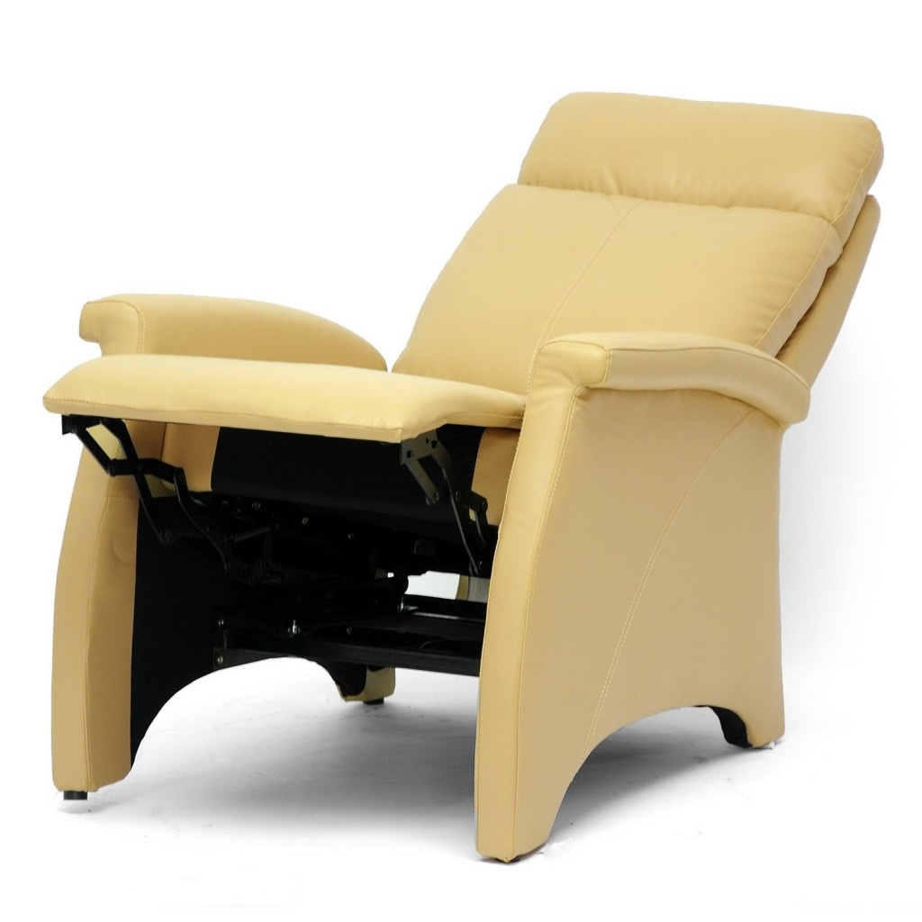 Leather armchair recliner options leather recliner chairs for Small cream chair