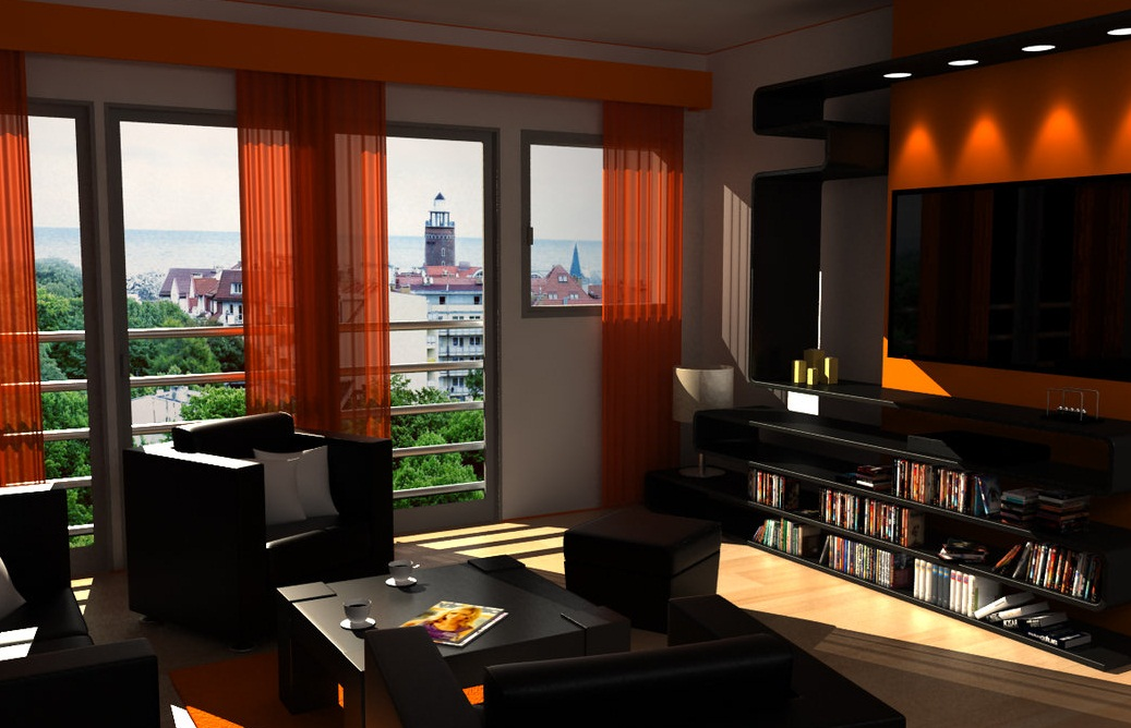 living room colors with black furniture pictures 12