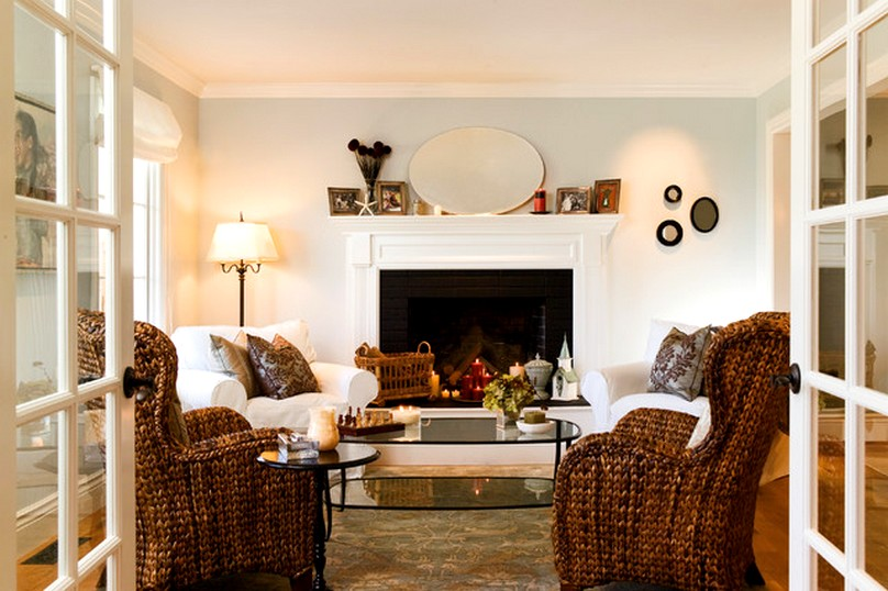 Amazing living room furniture arrangement with fireplace for Living room arrangements