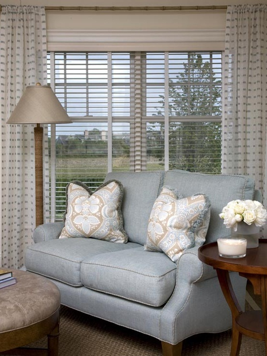modern living room window treatments photos 11