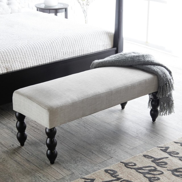 modern upholstered storage bench for bedroom pic 14