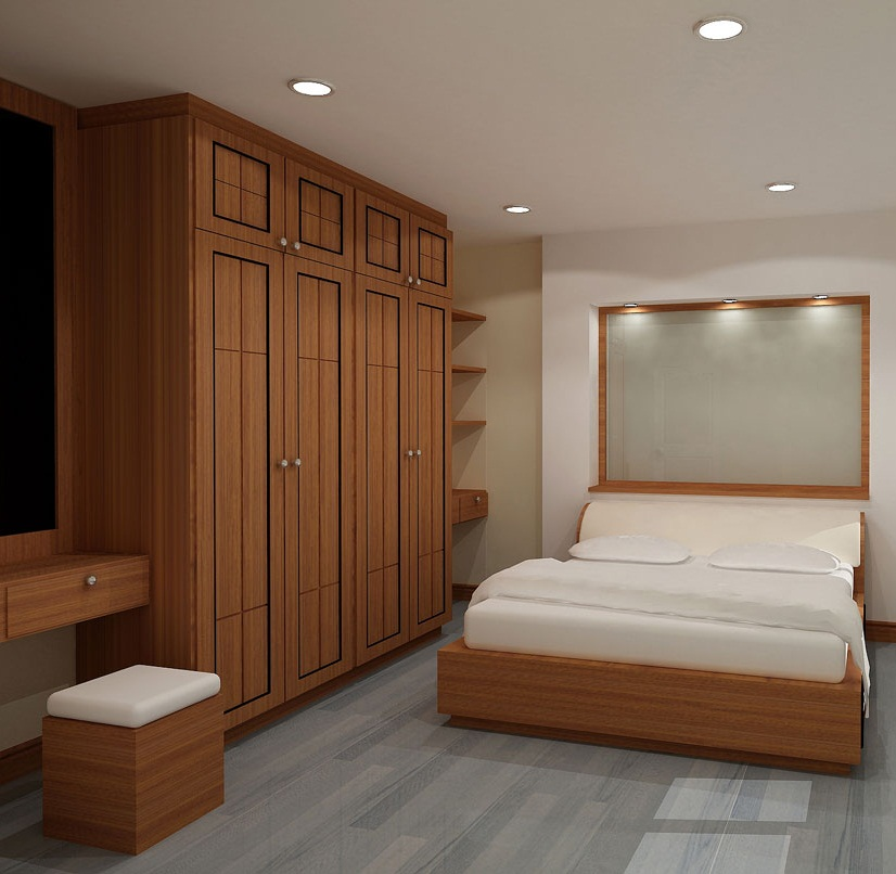 Modern wooden wardrobe designs for bedroom picture 15 for Bedroom cupboard designs small space
