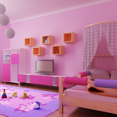 Paint color for small bedroom walls pink photos 14 - Nice bedroom colors for girls ...