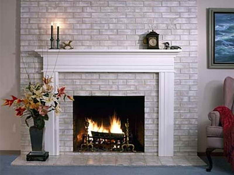 Painting Brick Fireplace Designs Ideas Small Room Decorating Ideas