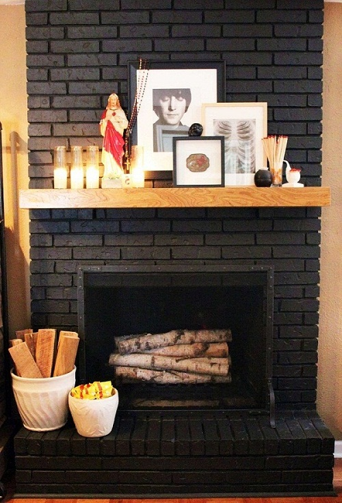 Painting Brick Fireplace Designs Ideas | Small Room ...