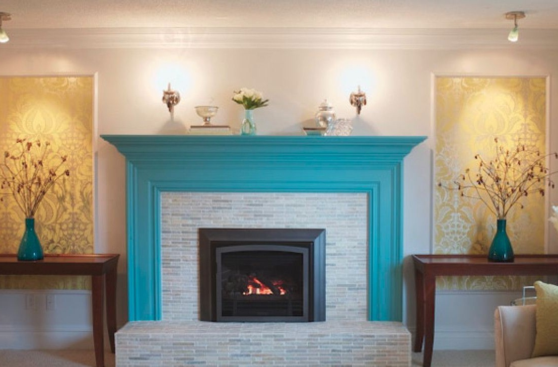 painting brick fireplace color ideas photos 11