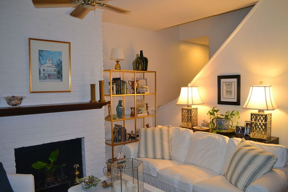 painting brick fireplace white pictures 01