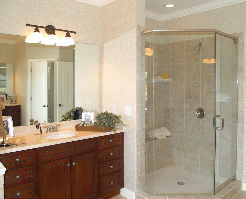 pictures of how to remodel small bathroom with shower 08