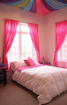 pink curtains for a small bedroom window pictures 03