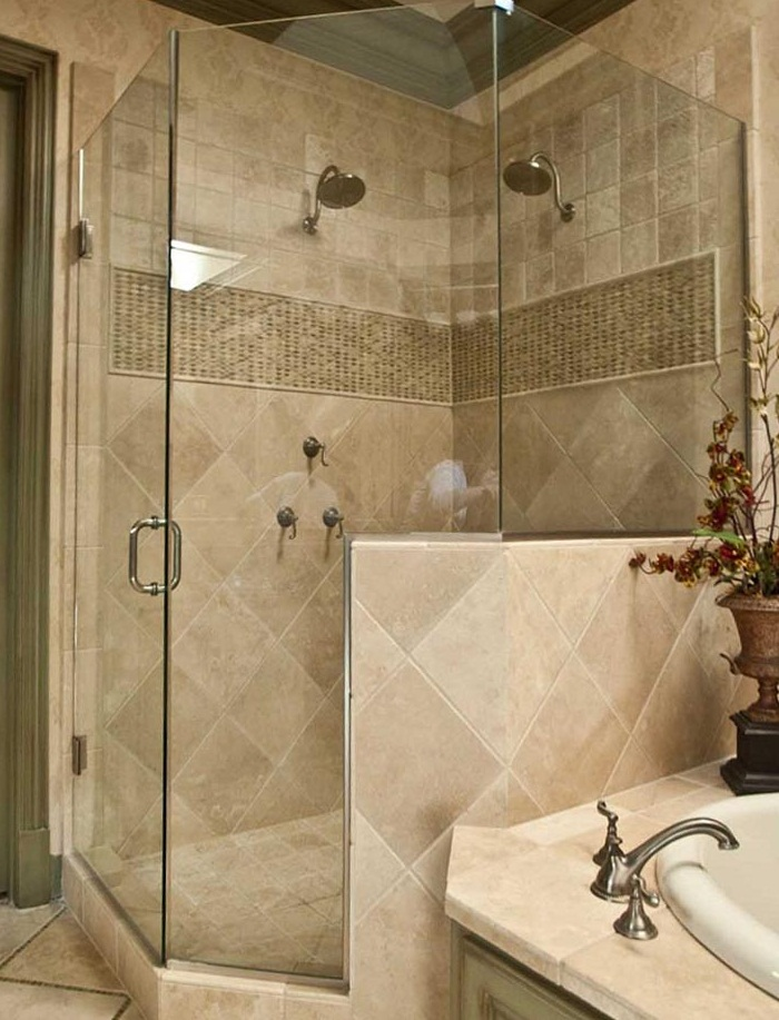 Small Bathroom Remodel With Corner Shower Images 02 Small Room Decorating I