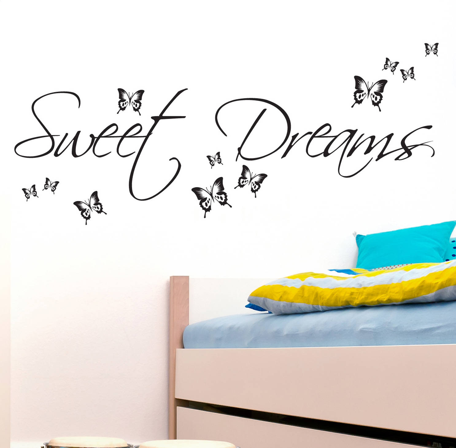 sweet dream wall decals quotes buterfly bedroom decor 11