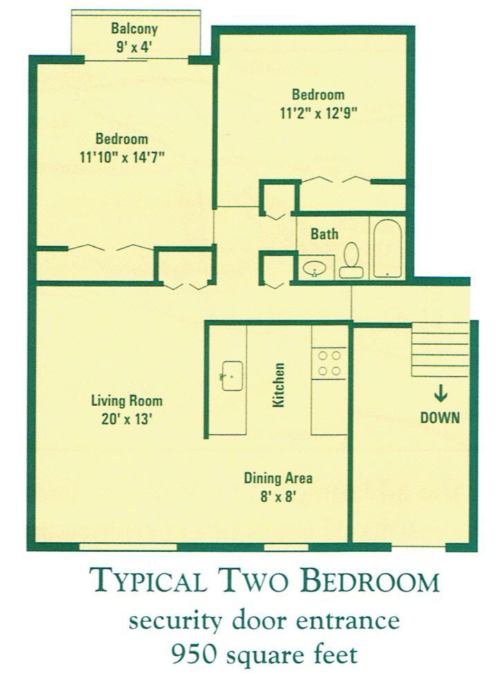 top apartment floor plans designs two bedroom pic 03
