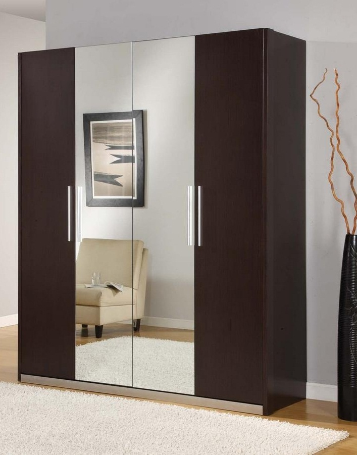 Wooden wardrobe designs for bedroom with mirror pictures 02 for Wardrobe designs for small bedroom