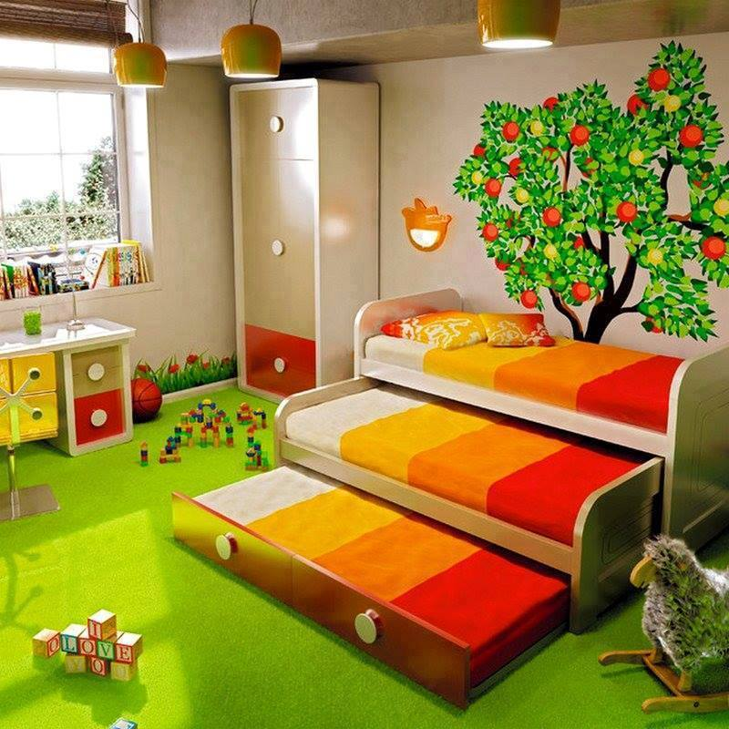 Gorgeous childrens bedroom furniture for small spaces images 05