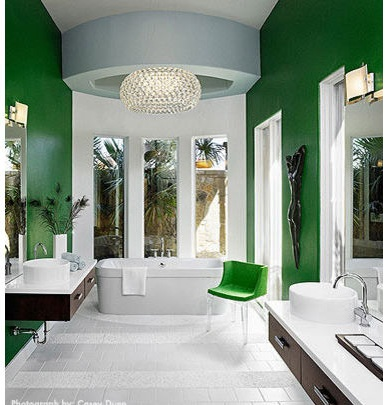 Green and white master bathroom paint color ideas images 05