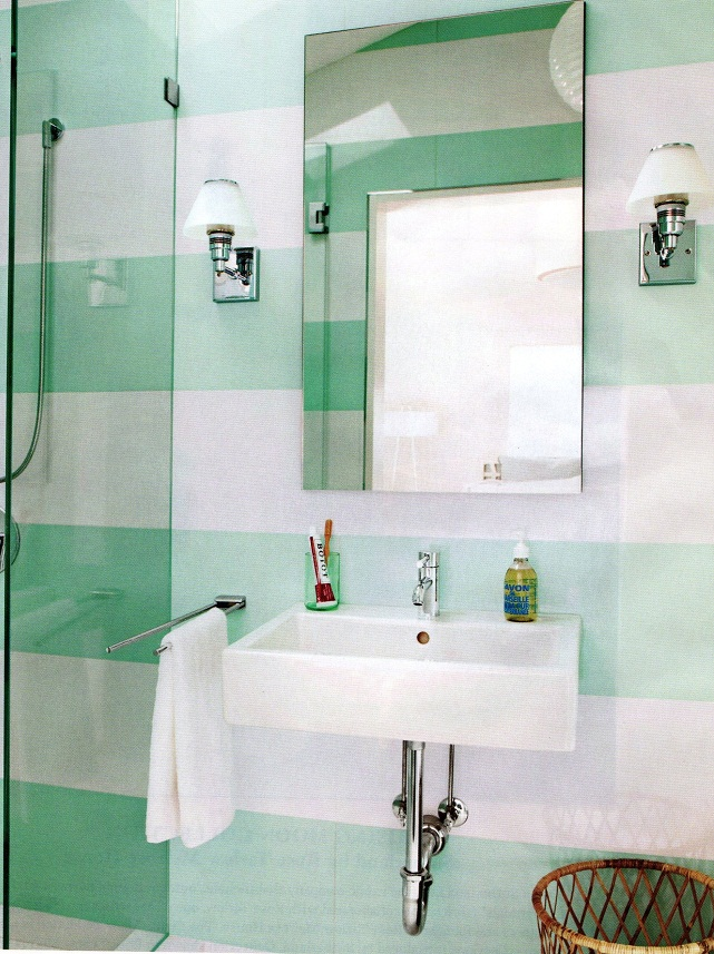Green and white paint colors in a small bathroom pictures 013