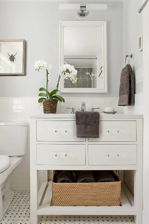 White small bathroom vanities with storage and drawer img 15