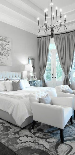 Best Gray Paint Color For Modern Master Bedroom Photos 012 Small Room Decorating Ideas