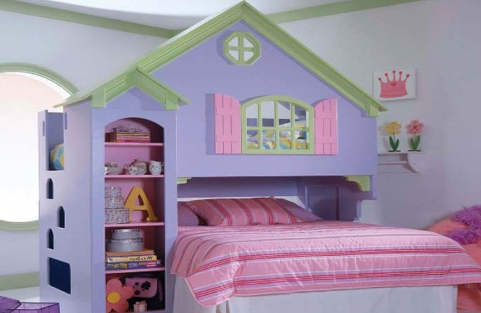 clean simple bedroom design for girls princess style pic 12
