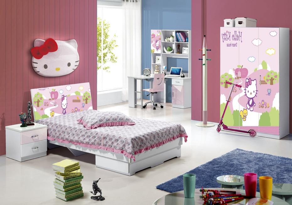 cute simple bedroom designs hello kitty design style photos 09