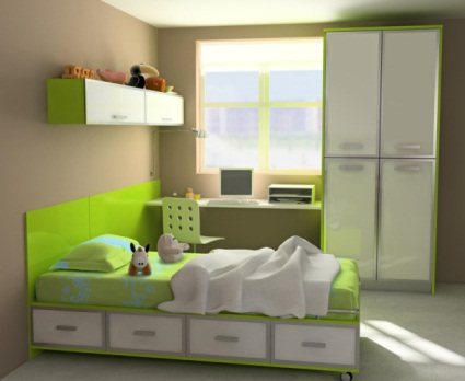 green best color furniture for small bedroom pictures 04