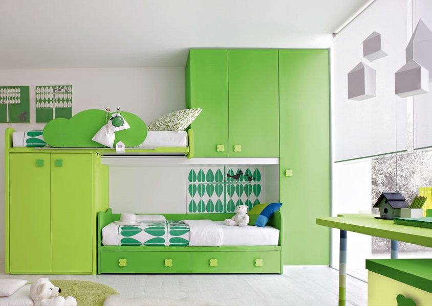green kids bedroom furniture simple ideas pictures 02