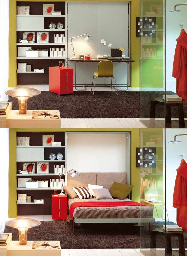 multifunctional bedroom furniture for small spaces 012