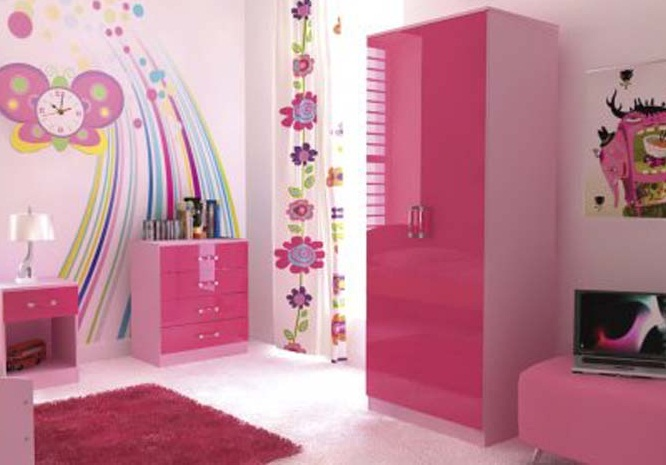 simple bedroom color schemes pink for kids images 06