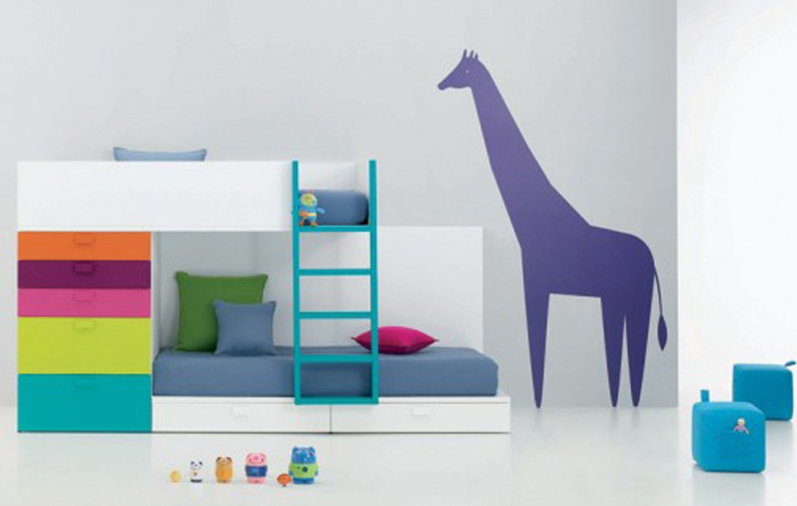 simple colorful kids bedroom furniture for small spaces pictures 04