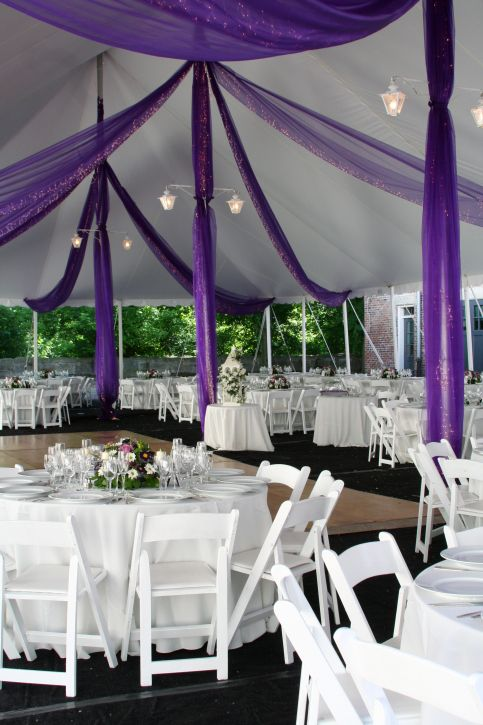simple purple wedding decorations for outside img 16