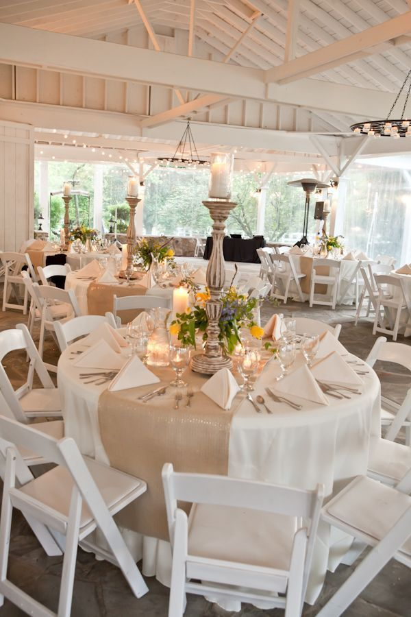 Simple decorations for wedding reception and