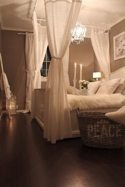4 poster bed curtain rods from ceiling create beautiful bedroom