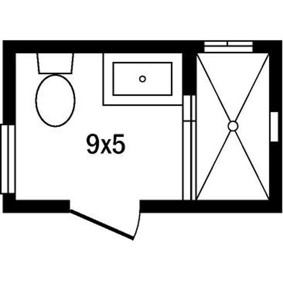 Diy small bathroom floor plans shed dormers raised the for Master bathroom layout